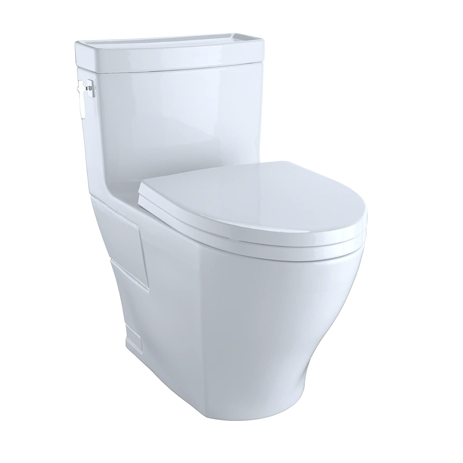 Toto MS626214CEFG#01 Aimes One-Piece High-Efficiency Toilet, 1.28GPF ...
