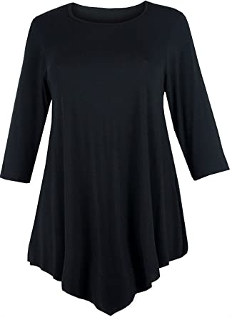 WOMENS LOOSE V-CUT TUNIC TOP SWING DRESS PLUS SIZE 24 26 LADIES ...