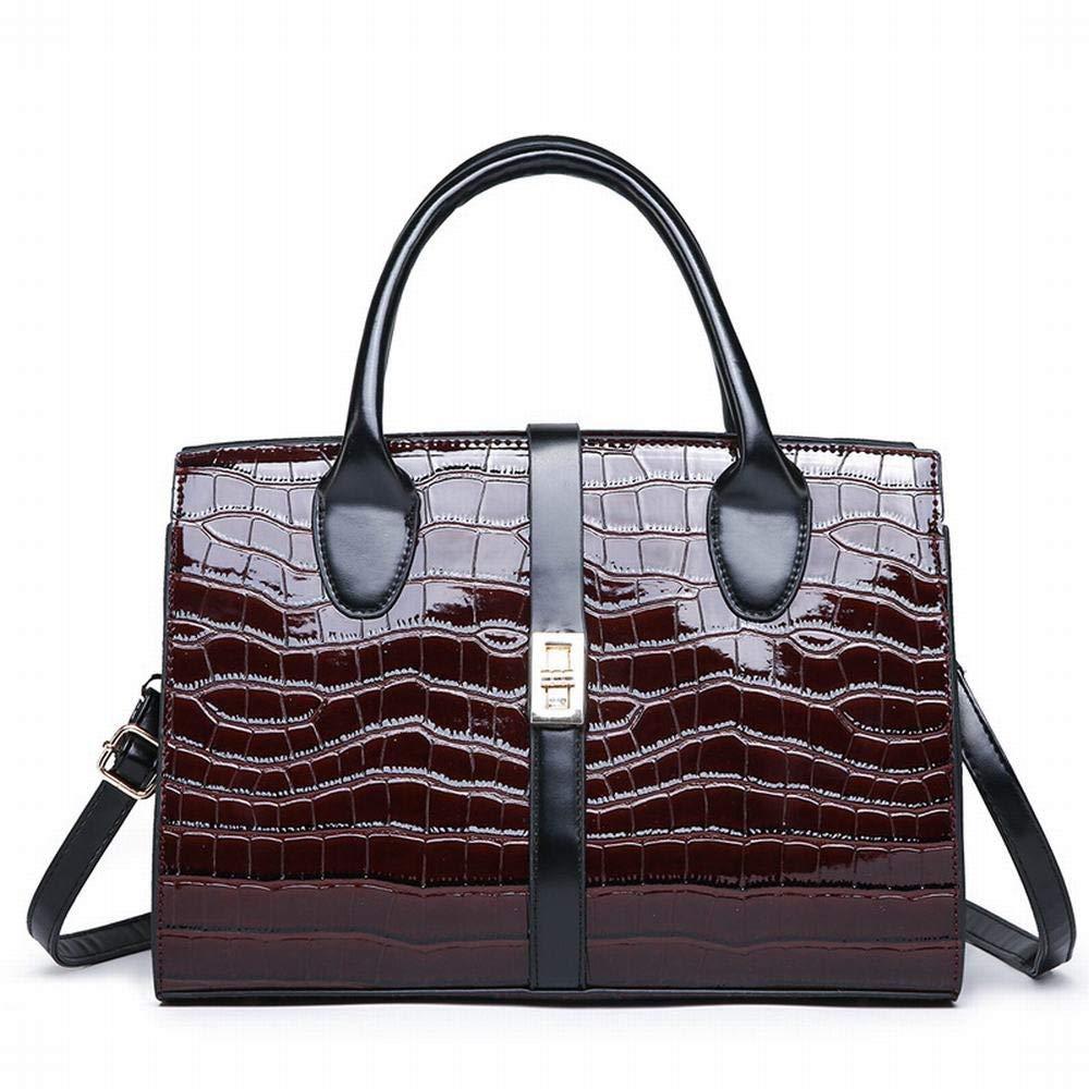 FELICIOO Umhängetasche Messenger Bag Handtasche Lackleder Handtasche Geldbörsen für für für Frauen (Farbe   braun) B07QC117HV Schultertaschen König der Quantität 55659b