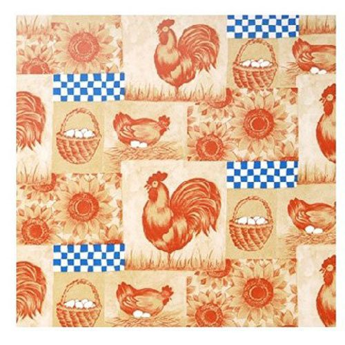 Country Kitchen Shelf - Magic Cover Adhesive Vinyl Contact Paper for Shelf Liner, Drawer Liner and Arts and Crafts Projects - 18 inches by 9 feet per roll, On Farm Pattern