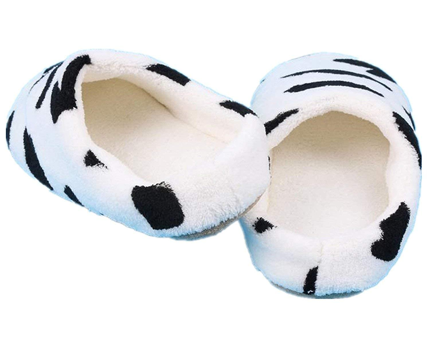 Fantastic-Journey Couple Winter Warm Slippers Women Soft Cotton Cow House Indoor Flats Shoes