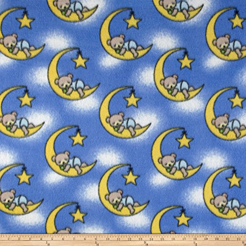 Fleece Dreamybear Royal Fabric By The Yard (Moon Fleece Fabric)