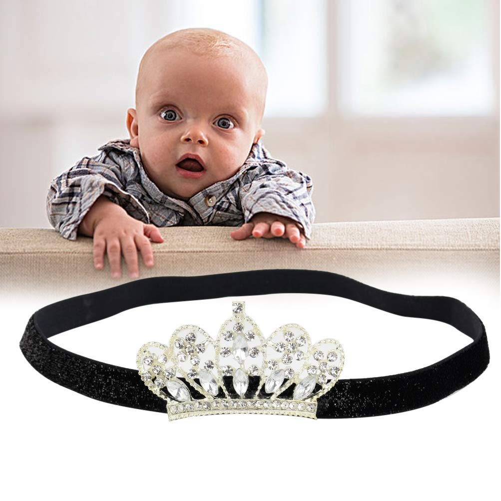 Amazon.com  Black Crown Headband for Toddler Girls Boys Elastic Hair Bands  Accessory Photo Shoot Prop Session for Birthday Party Halloween BLUETOP   Beauty 04e780344bf