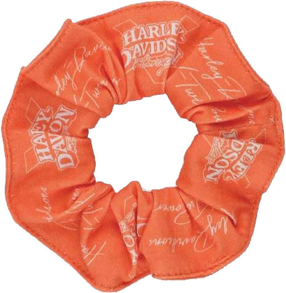 Harley-Davidson All Over Bar /& Shield Logo Hair Scrunchie Pink HS30245