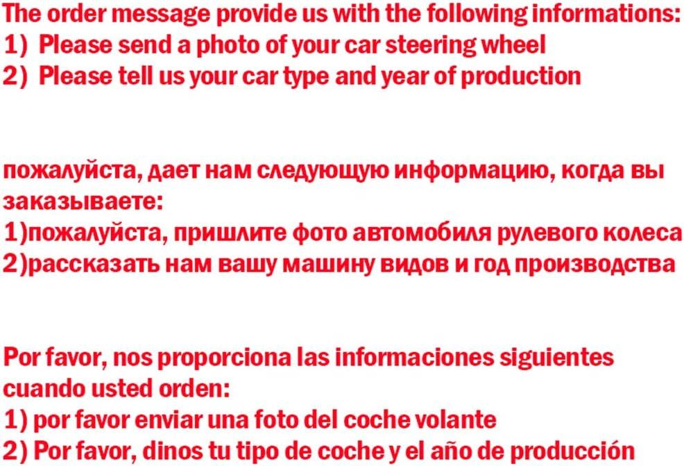 ZYTB F/ür Schwarze Lenkradabdeckung F/ür Renault Megane 3 2009-2014 Fluence Ze 2009-2016/Scenic 2010-2015