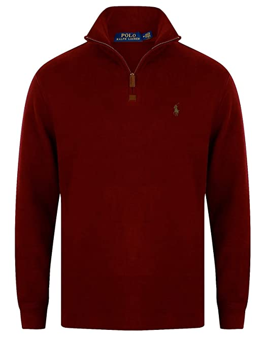 Ralph Maglione it Bordeaux Rosso Amazon Uomo Lauren Medium SvqwFOz