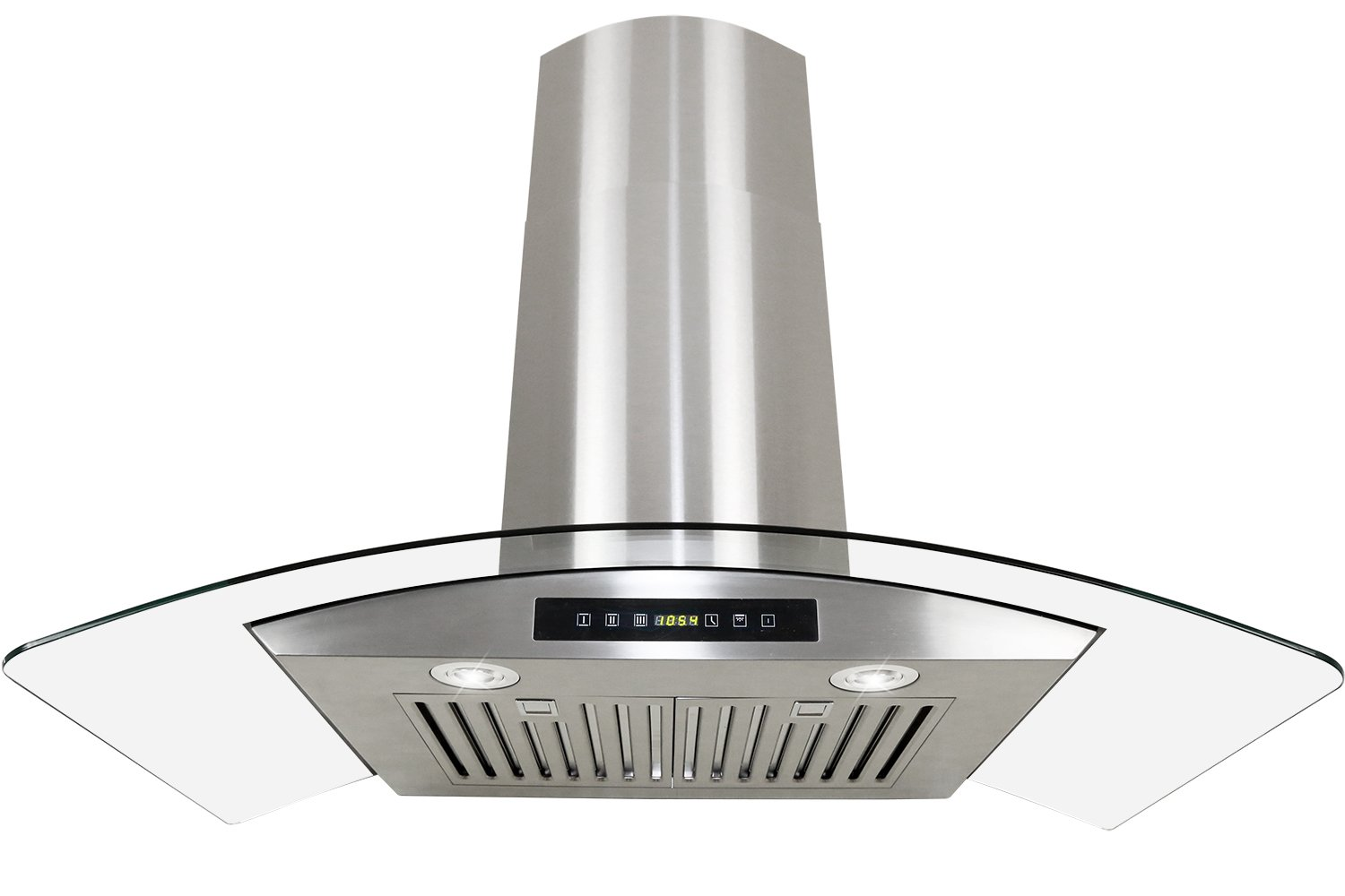 Golden Vantage Stainless Steel 30 Euro Style Wall Mount Range Hood LED TOUCH SCREEN W/Baffle Filter GV-H703C-B30