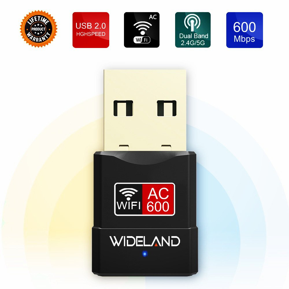 USB Wifi Adapter,Mini Dual Band Wireless Adapter, AC 600Mbps USB WiFi Dongle 2.4G/5G Network Card for PC/Desktop/Laptop,Supports Windows 10/8/7/Vista/XP,Mac OS X 10.4-10.12