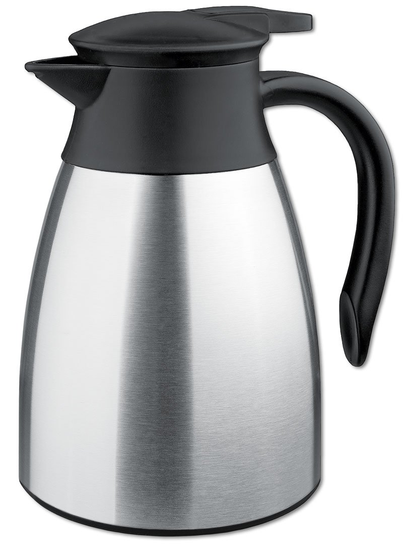 Isosteel Tableline Va-9348k 40 oz Vacuum Carafe Brushed Surface non scratch plastic Bottom