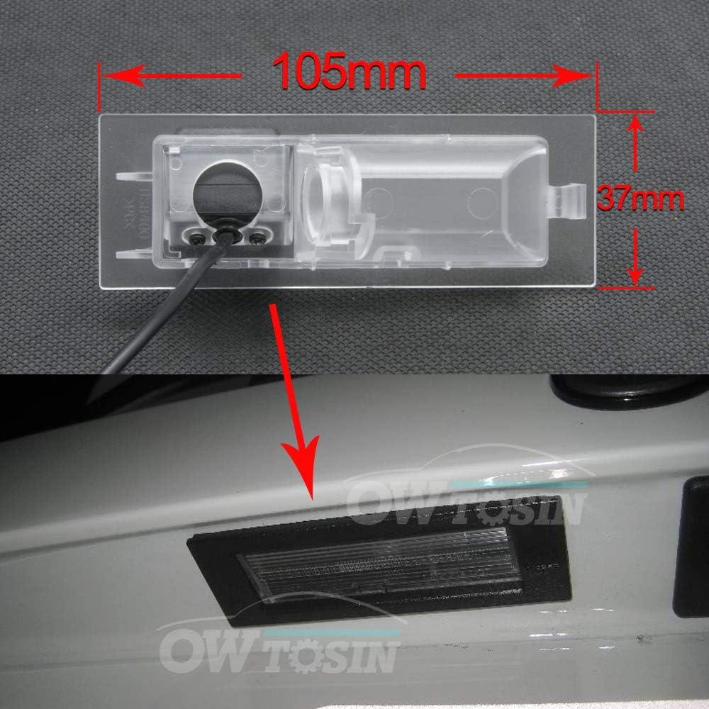 Telecamera posteriore per retromarcia HD 1280 x 720p per targa visione notturna impermeabile per Jeep Renegade Dodge Neon Fiat Tipo Tipo Fiat Egea 2015~2018 IP69K