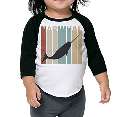 SH-rong Vintage Narwhal Kids Custom T-shirt