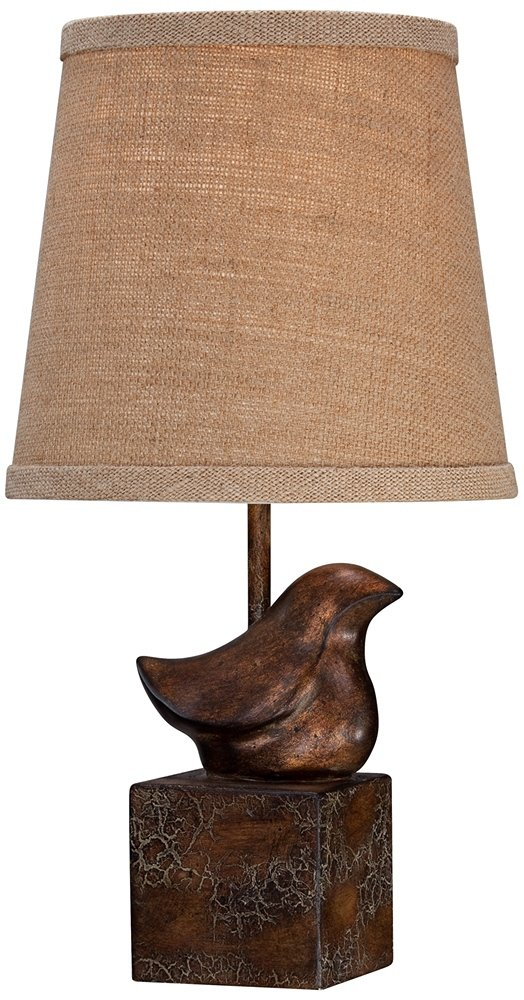 Bird Moderne Crackle Finish 15 1/2'' High Small Accent Lamp