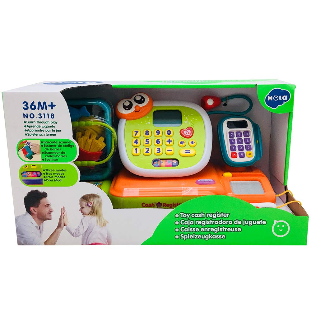 ANIKI TOYS B/éb/é BambinFaire Semblant de Jouer Calculatrice Caisse enregistreuse