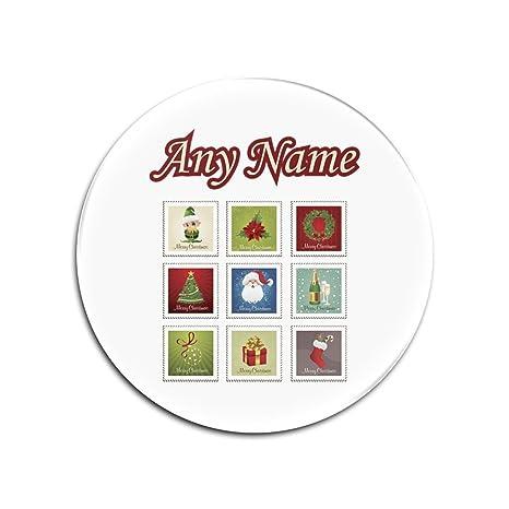 Personalizado regalo posavasos de cristal – juego de sello de Navidad (feliz Navidad Diseño tema