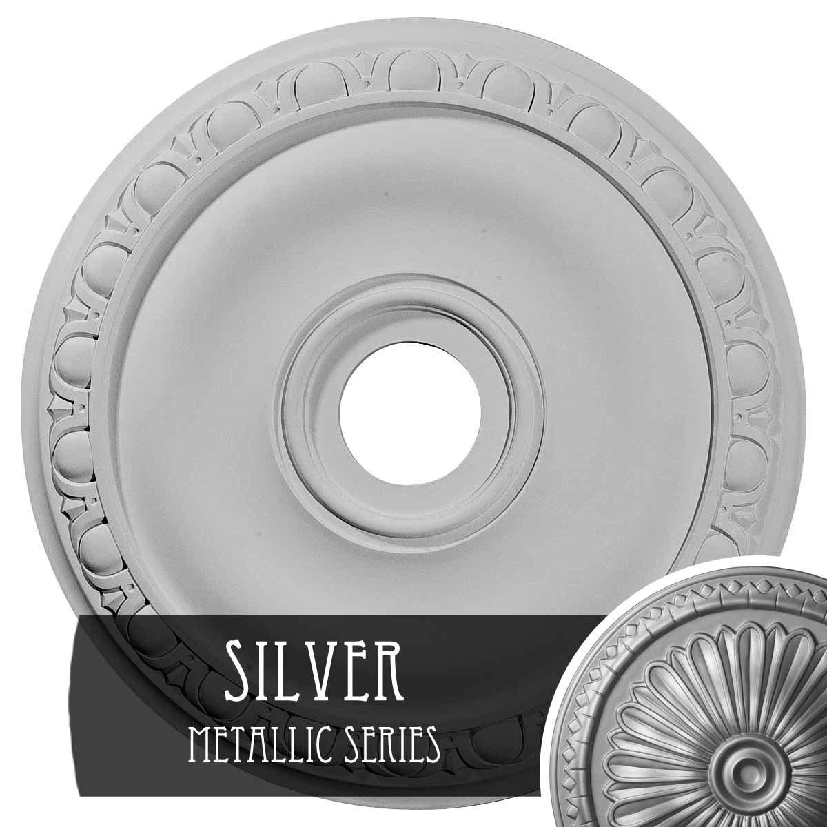 Ekena Millwork CM20JASLS Jackson Ceiling Medallion fits Canopies up to 5 1/8'', Silver by Ekena Millwork (Image #1)