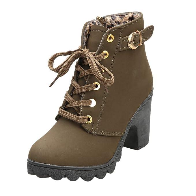 Amazon.com: Botas de tobillo con correa de hebilla para ...