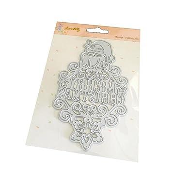 ularma Weihnachten Halloween Dekoration Papier Decoupage Matrizen ...