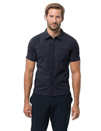 Jack Wolfskin Herren Schnelltrocknendes Outdoor Hemd Kurzarm Jwp Shirt M