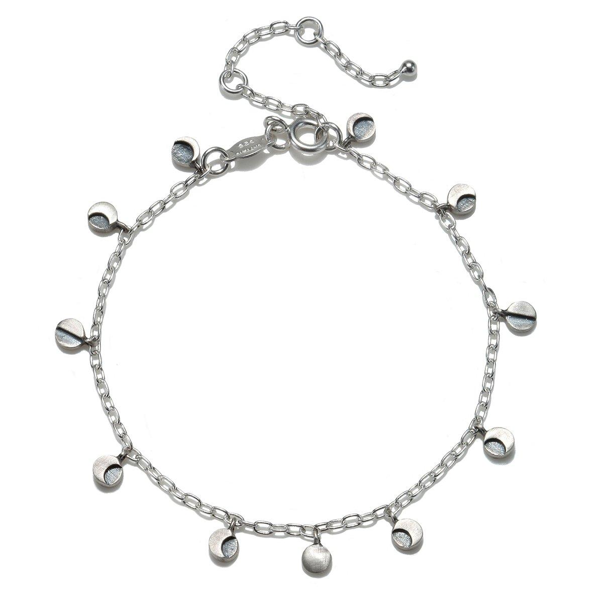 Satya Jewelry Sterling Silver Moon Phase Charm Bracelet
