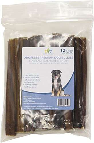 Pet S Choice Pharmaceuticals 12 Count Premium Odorless Bully Sticks 12 Pack