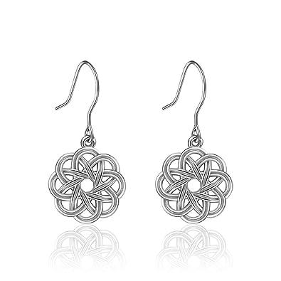 Eudora Frauen 925 Sterling Silber keltischer Knoten Vintage Paar ...