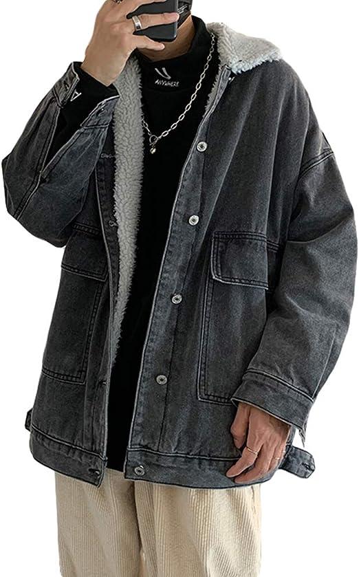 [MLboss]デニムジャケット メンズ 冬 ジージャン 裏ボア ジャケット 中綿 裏起毛 あったか 防寒 コート オーバーサイズ 韓国風 カジュアル デニムコート 厚手 アウトドア