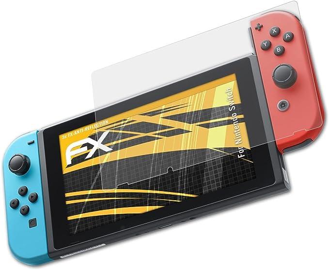 atFoliX Película Protectora para Nintendo Switch Lámina Protectora de Pantalla, antirreflejos y amortiguadores FX Protector Película (3X): Amazon.es: Electrónica