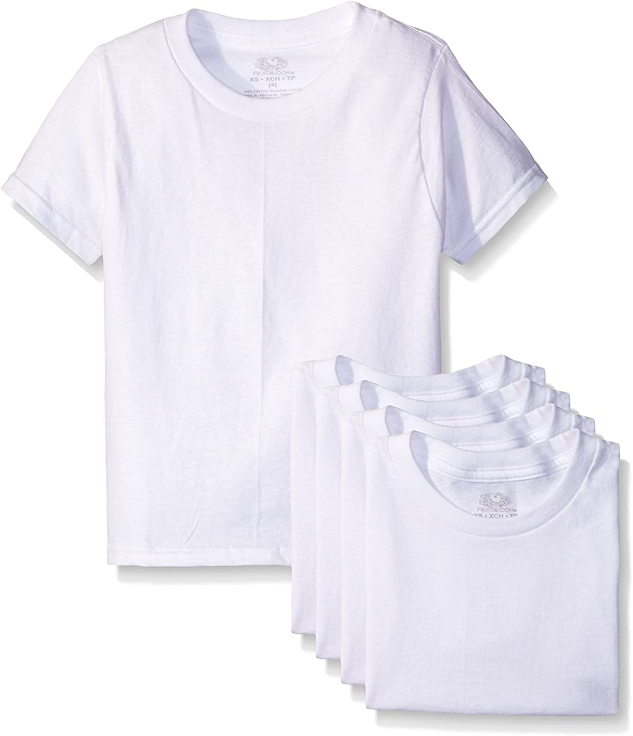 Pack of 3 Fruit of the Loom Big Toddler Boys Crew Tee