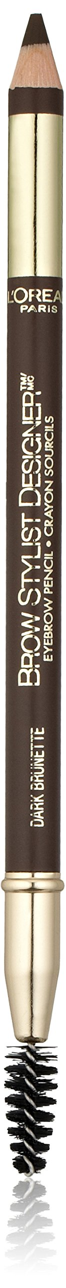 L'Oréal Paris Brow Stylist Designer Brow Pencil, Dark Brunette, 0.045 oz.