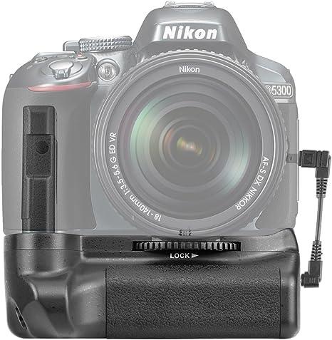 Neewer - Pro empuñadura de batería para Camara Nikon D5100/5200 ...