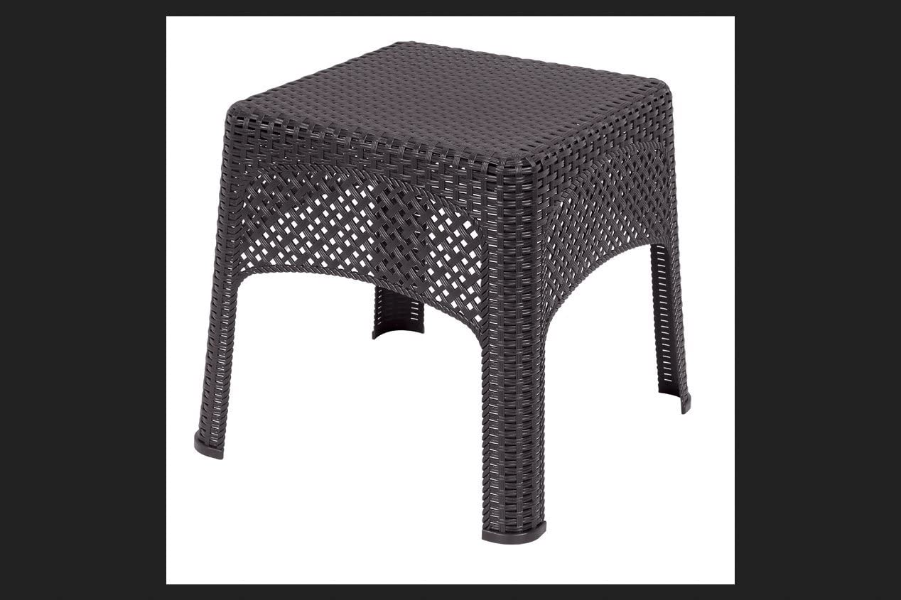 US Leisure 189982 Cappuccino Veranda Wicker Side Table