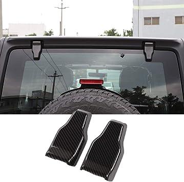 Red Grain Decor RT-TCZ Window Rain Wiper Nozzle Decorative Cover Trim Front Rain Wiper Nozzle Cover for Jeep Wrangler JL Accessories 2018+