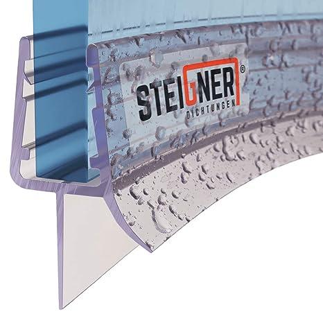 STEIGNER Duschdichtung 30cm UK12 Vorgebogene PVC Ersatzdichtung f/ür Runddusche Glasst/ärke 6//7// 8 mm