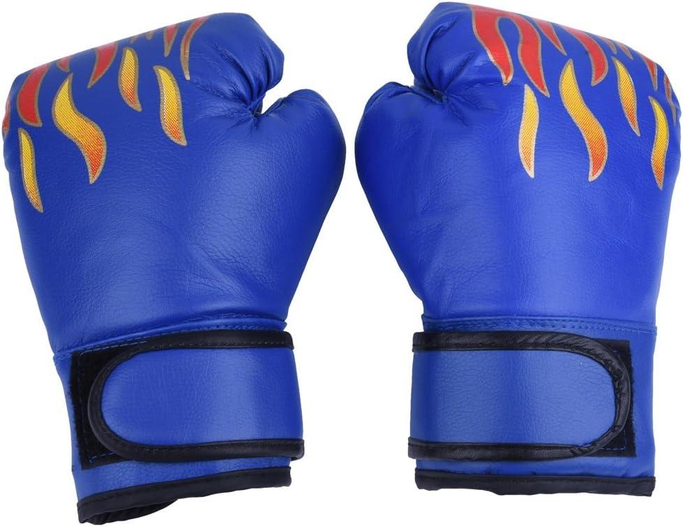 Guantes de Boxeo de Niños Guante de Entrenamiento de Cuero PU para Thai Sparring Kickboxing Guantes para Niños de 7-13 Años