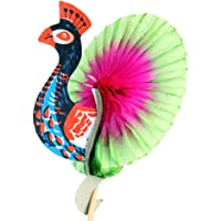 50pcs Colorful Peacock-Pattern Cocktail Drink Fruit Cake Sticks