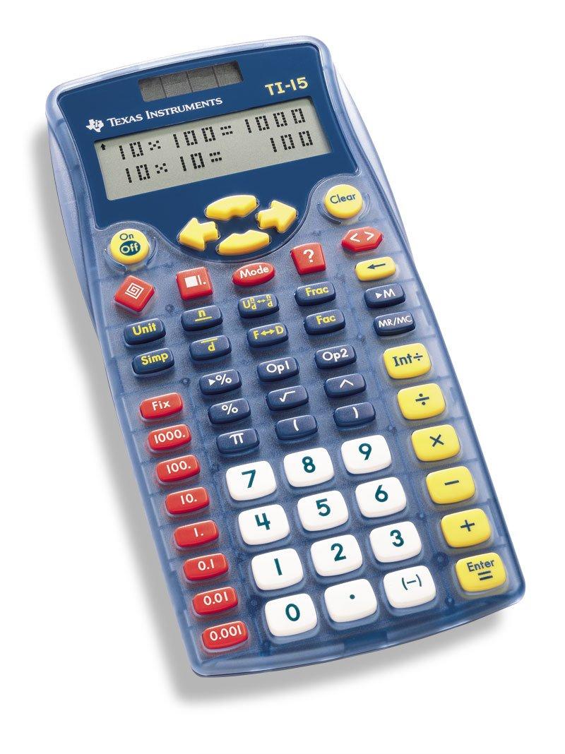 Uncategorized Kids Calculator amazon com texas instruments ti 15 explorer elementary calculator electronics