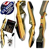"Southwest Archery Spyder Takedown Recurve Bow and Arrow Set – Compact Fast Accurate 62"" Hunting & Target Bow – Right & Left Hand – Draw Weights in 20-60 lbs – Beginner to Intermediate - USA Company"