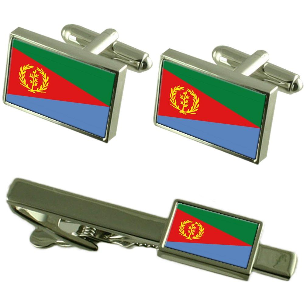 Eritrea bandiera gemelli Clip la scatola di adattamento Set regalo WFC130_GS