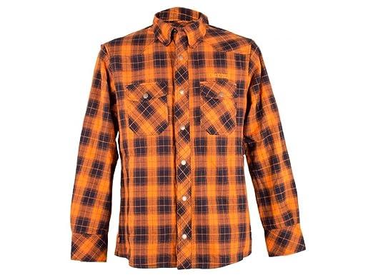 King Kerosin B4088 - Kevlar Biker Camisa Camisa de leñador - Check Wood Cutter Camiseta Verde - Crema de hasta 3 x l: Amazon.es: Coche y moto