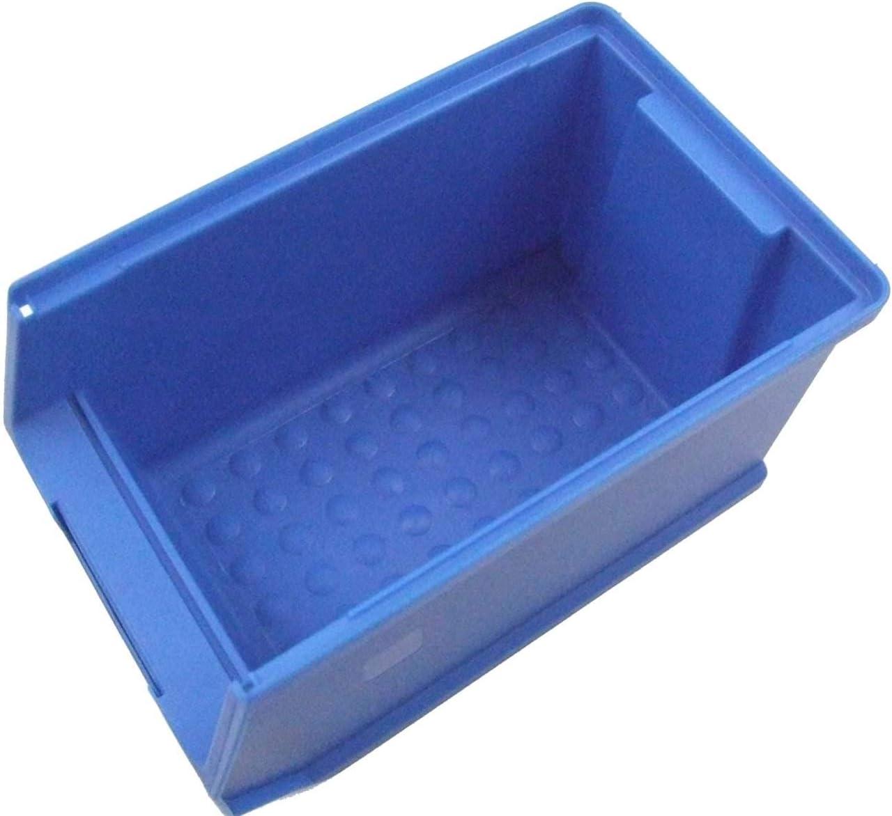 Sichtlagerboxen 235x145x125 mm 32 St/ück Gr.3 blau mit 8 Wandschienen