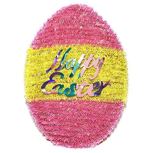 (Brite Star Easter Egg Stripe Tinsel Mixed with Multicolor Iridescent, IRI Multi, 6 Piece)