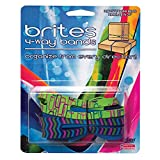 Alliance Rubber 07875 Brites 4-Way Non Latex Rubber Bands, Multi-Colored Patterns (8 1/2'', 3 Pack)