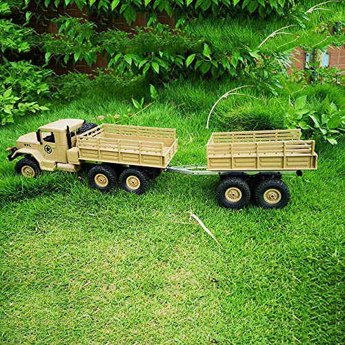 Gbell DIY Trailer Car Truck Vehicle Part Toy Set for WPL 1/16 Military Truck RC Car, Plastic Metal Educational Puzzle Toys for Kids Boys 6-14 Year Old,20x7x13.5CM,Army Green Blue Yellow (Army Green) by Gbell (Image #7)