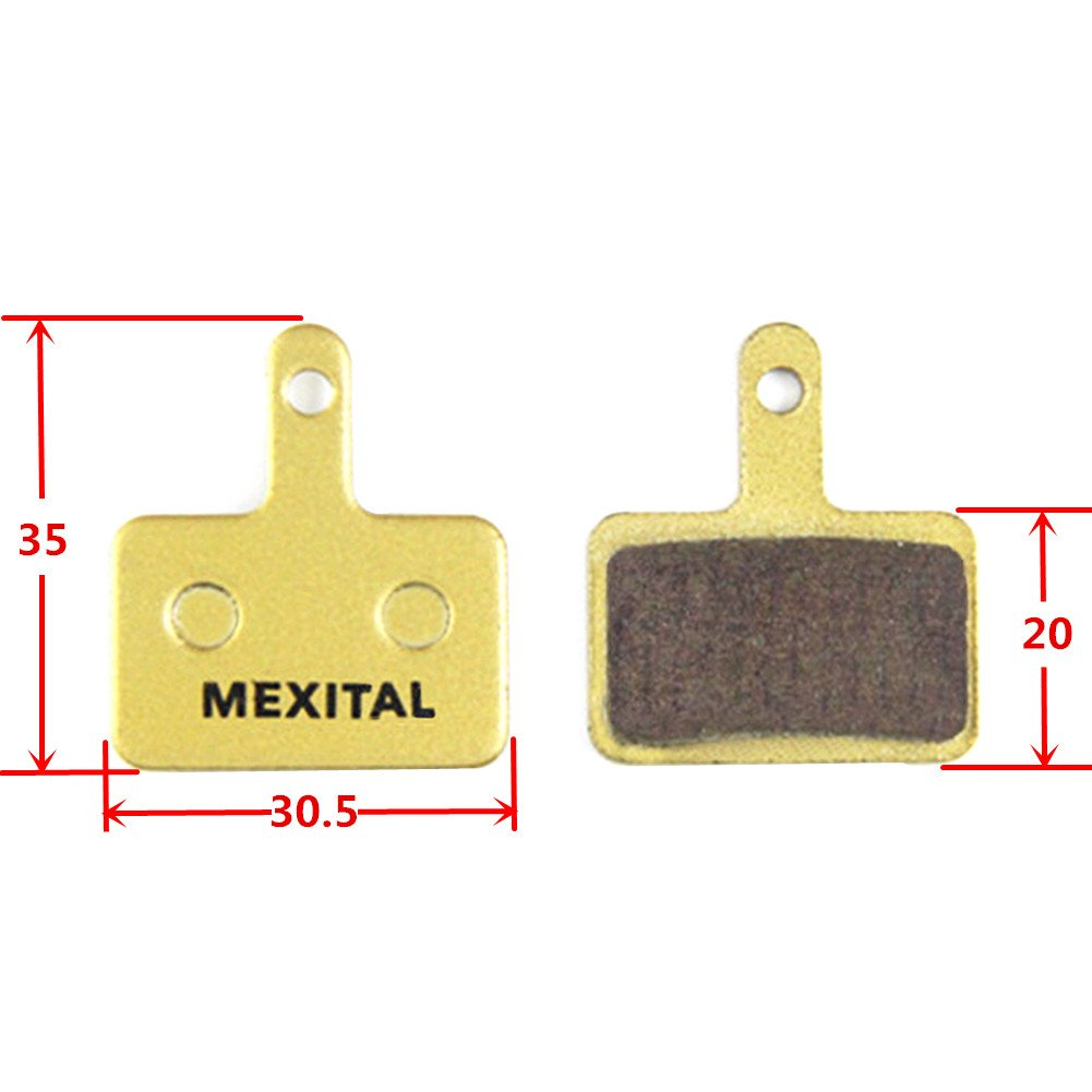 MEXITAL 2 pairs Sintered Disc Brake Pads fit for Shimano M315 M355 M365 M375 M395 M396 M415 M416 M445 M446 M447 M465 M475 M485 M486 M495 M505 M510 M515 M525 M535 M575 Tektro Orion Auriga Pro Comp