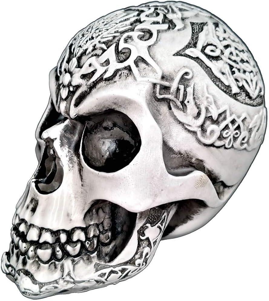BLASCOOL Halloween Gothic Skull Decor - Human Head Skeleton Cranium Figurine