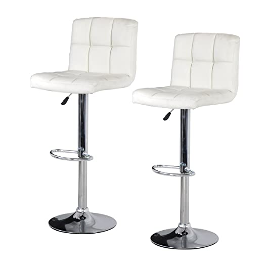 Faux Leather Bar Stool - White (2 Pack)  sc 1 st  Amazon UK : white faux leather bar stools - islam-shia.org