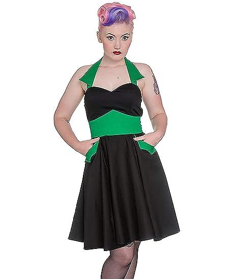 Tiger Milly-Mini-Falda de Hell Bunny Color Negro, Color Negro y ...