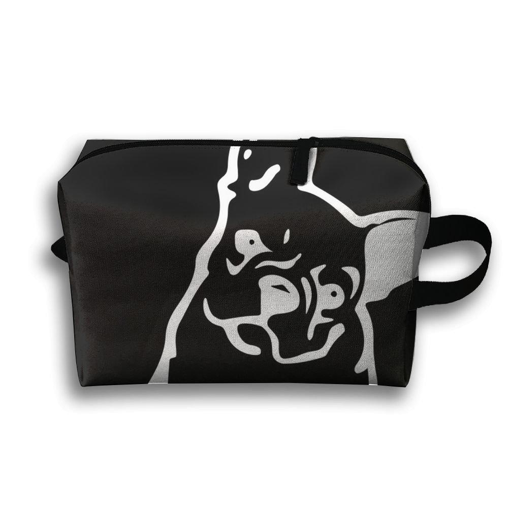 DTW1GjuY Lightweight And Waterproof Multifunction Storage Luggage Bag Bulldog Cartoon