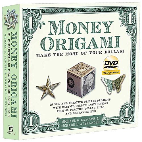 Money Origami Kit - Fold 21 Amazing Shapes Of Dollar Bill 64 Page Book + DVD ()