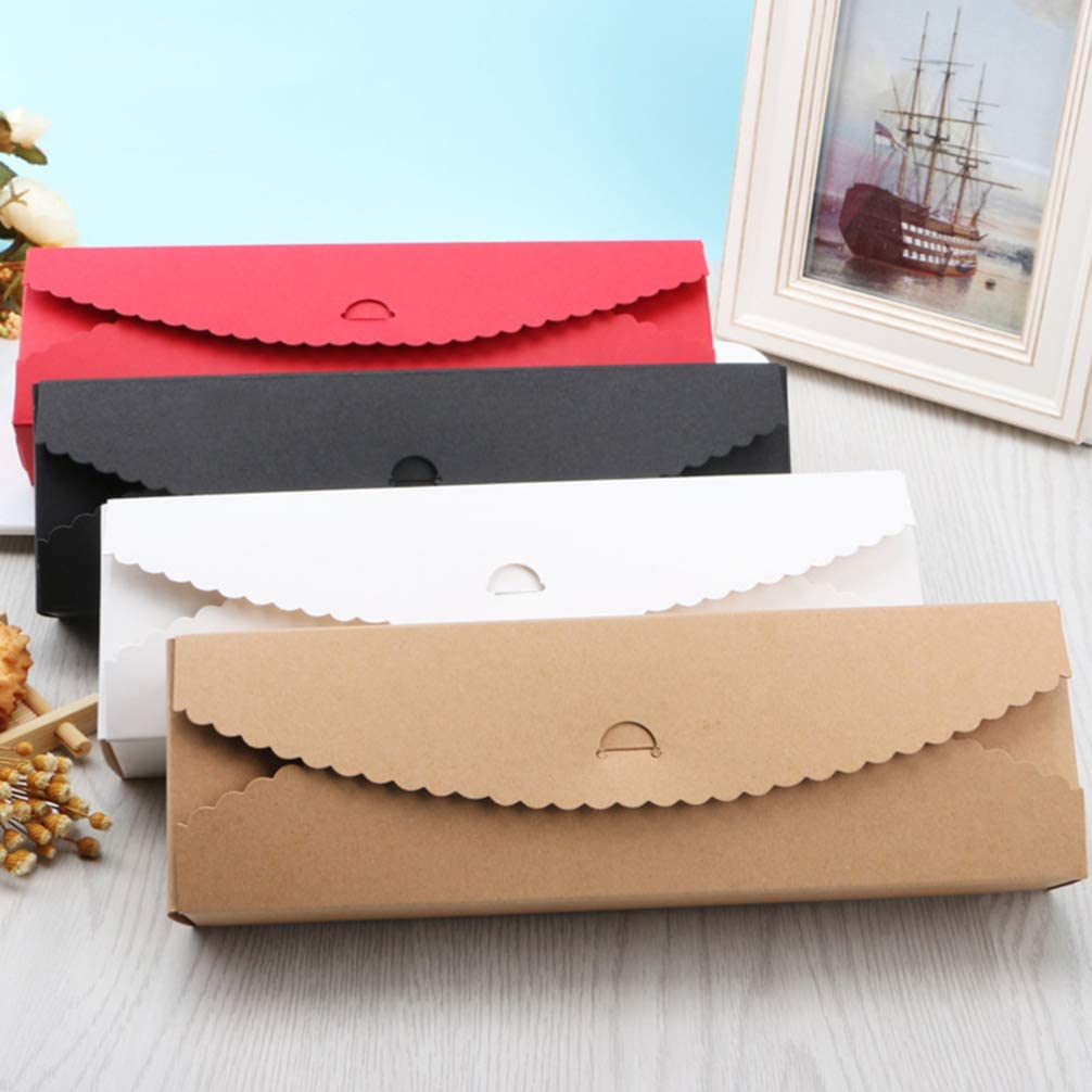 BESTonZON Papier Geschenkbox 4 Macarons-Boxen Dessert Papier Kuchenbeh/älter Verpackungsboxen f/ür Cranberry Kuchen Kekse 20pcs 23 x 7 x 4cm